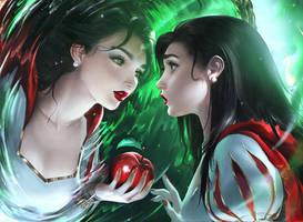 Mirror Mirror by sakimichan