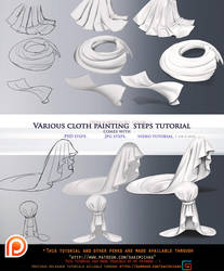Cloth variation step by step tutorial pack.promo. by sakimichan