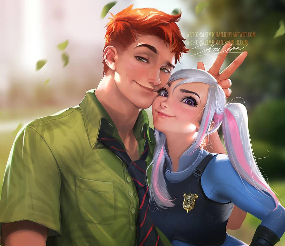 Nick n Judy by sakimichan