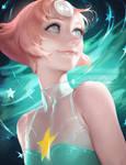 steven universe Pearl by sakimichan