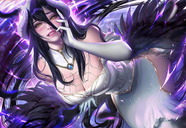 Albedo .nsfw optional. by sakimichan