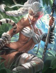 Chinese Zodiac.:Tiger:. by sakimichan