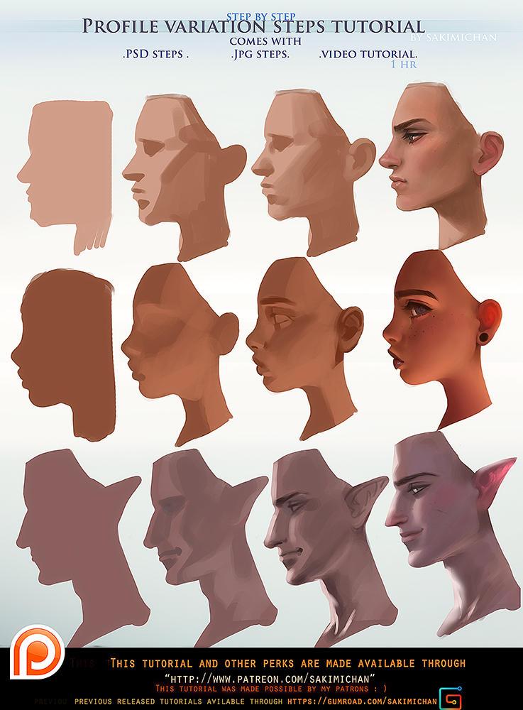 Profile Variation Steps Tutorial Pack Promo By Sakimichan