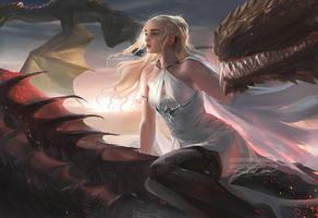 Daenerys by sakimichan