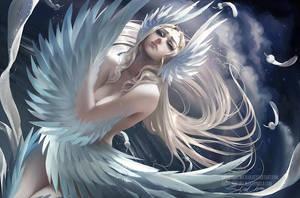Swans sorrrow by sakimichan