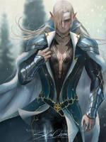 Elf prince by sakimichan