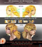 2D shading to 3D painting voice over guide.promo. by sakimichan