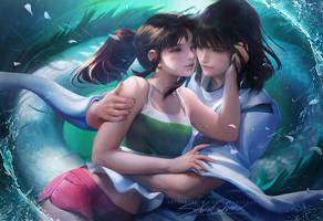 Spirited Away Reunion by sakimichan