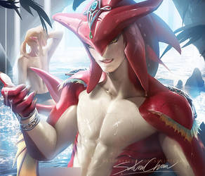 Sidon .nsfw preview. by sakimichan