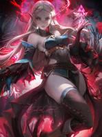 Shadow Ganon Zelda by sakimichan