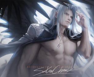 Sephiroth .shirtless vr. by sakimichan