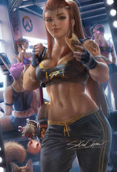 Brigitte gym day by sakimichan