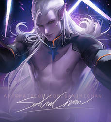 Prince Lotor .nsfw preview. by sakimichan