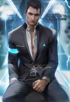 Connor Detroit:Become Human by sakimichan