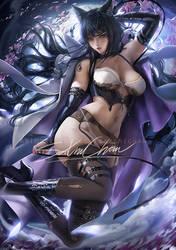 older Blake .lingerie pinup vr. by sakimichan