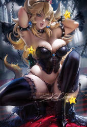Bowsette pinup by sakimichan
