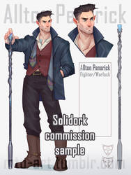 Solidork halfelf (Commission) by Mauw-than-one