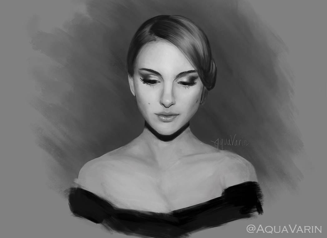 Natalie Portman Study: Digital Painting 15/??? by AquaVarin