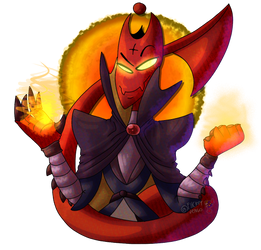 Mm spicy red fire dude by KingShovelmaniac