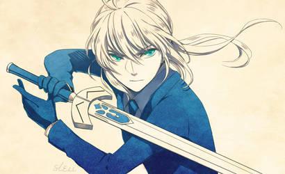 Fate/Zero - Saber by sleii