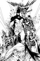 Bat Family by Brett Booth Inks by IanDSharman