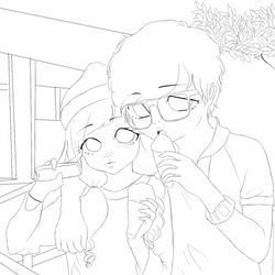 ulzzang couple by shniar