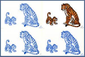 2 Tigers by Sandora