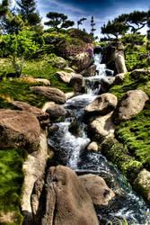 hdr japanese waterfall one by neumpawsha