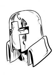 Silver Saint portrait as drawn by Joe Spicer by REZcat