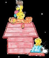 Snoopy and Garfield by Neyebur