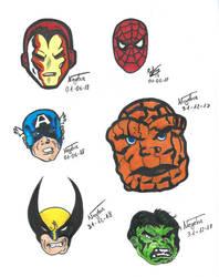 Superheroes a rotulador by Neyebur