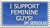 I Support Feminine Guys by Streakyferret