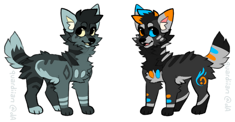 Woof Adopts (1/2 open) by SanityFox