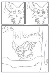 Its Halloween! Page 2 sketch (DTA Entry) by SanityFox