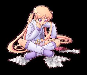 MELODY pondering by AngriestAngryArtist