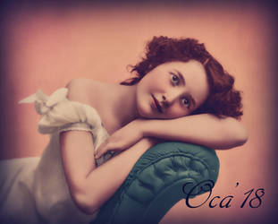 Vintage young woman by OKA1974