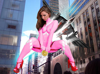 Pink Ranger (Pterodactyl-zord) by Nostalgia-Guy