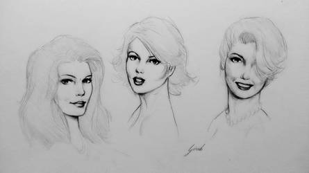 pencil heads sketches by girib