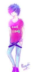 { I am a 100% Noobish - Francis } by Miroyoshi