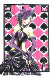 Cards: Queen of Spades by tranmai
