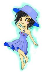 Blue Dress by tranmai