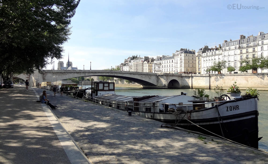 Houseboats Near Pont De La Tournelle By Eutouring On Deviantart