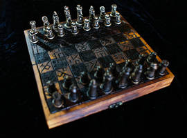 Burnt Travel Chess Set by Goomba-2007