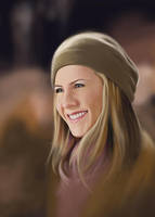 Jennifer Aniston Painting in Photoshop by Packwood