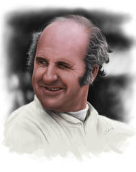 Denny Hulme Painting by Packwood