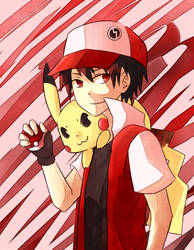 Pokemon Champion Red by Galecoroco