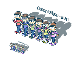 [FA]Osomatsu-san pixel art by jump2537