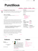 Punctilious Blogger Template by nymphont