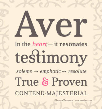 Aver Typography by nymphont