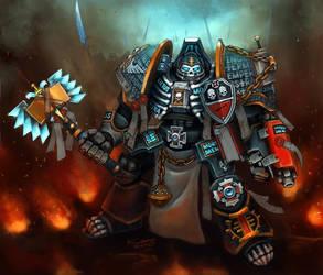 Grey Knight Chaplain by Khantian
